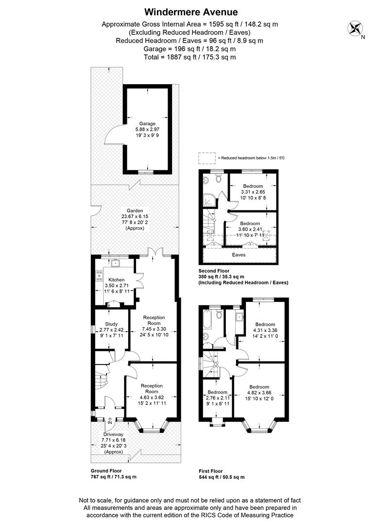 Floorplan for Windermere Avenue, Merton Park